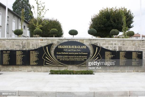Le memorial le 16 septembre 2011 OradoursurGlane HauteVienne Limousin Le nom d'OradoursurGlane reste attache au massacre de sa population par la...