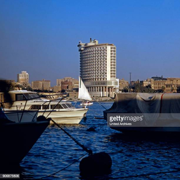 Le Meridien Le Caire Hotel at Corniche Road at Garden City, a quarter of Cairo, Egypt, late 1970s.