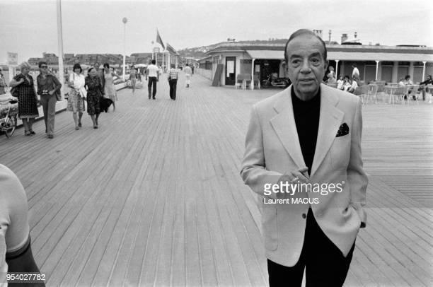 Le metteur en scène américain Vincente Minnelli sur les planches en septembre 1977 à Deauville France