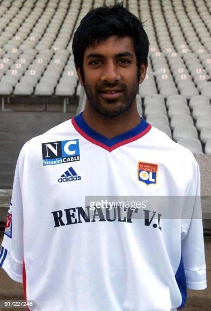 Le milieu offensif Vikash Dhorasoo pose pour la photo officielle de l'équipe de l'Olympique Lyonnais qui disputera le championnat de France de...