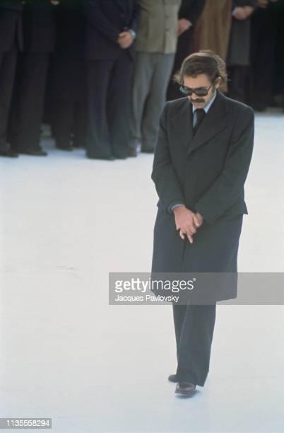 Le ministre algérien des Affaires Etrangères Abdelaziz Bouteflika assiste aux obsèques du Président Houari Boumediene