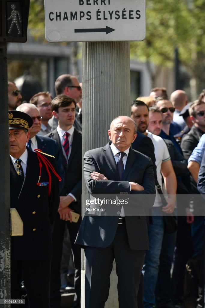 Emmanuel Macron Paid Tibute To Fallen Police Officer Xavier Jugele