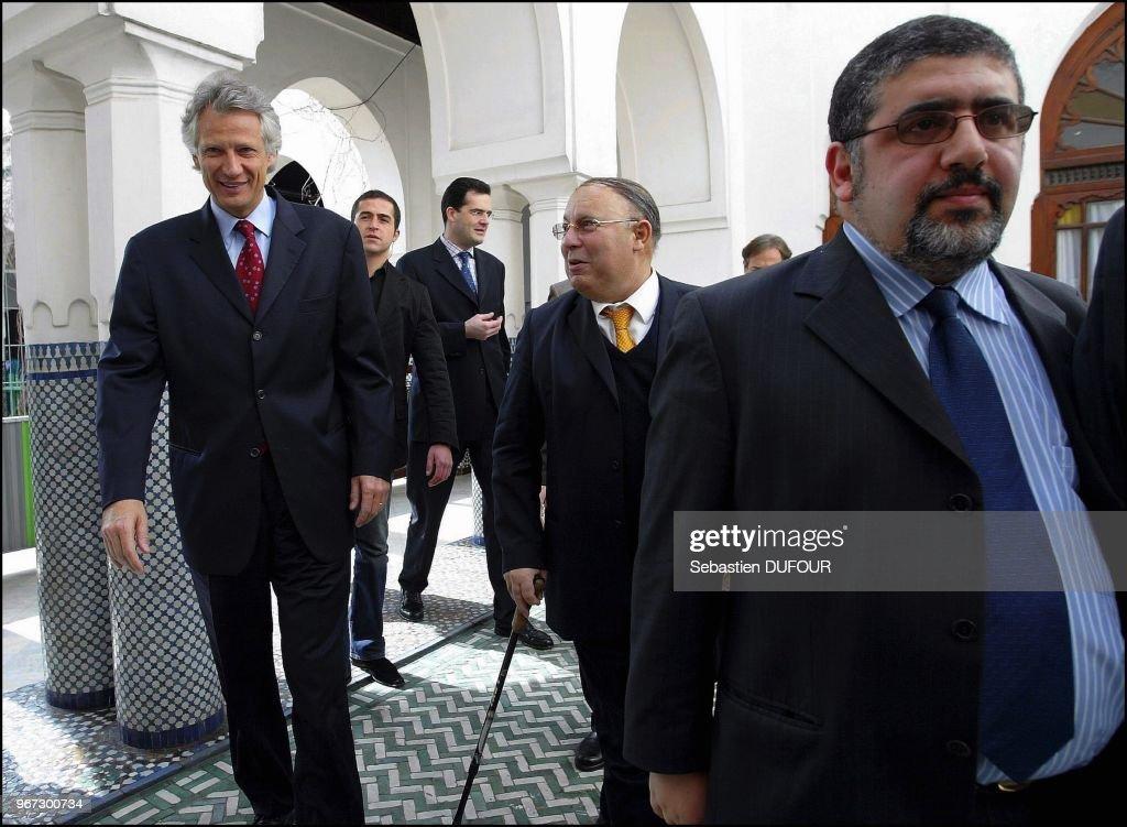 Le Ministre de l\'Interieur Dominique de Villepin a la Mosquee de ...