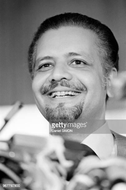 Le ministre saoudien du pétrole Ahmed Zaki Yamani lors d'un sommet de l'OPEP à Genève le 28 juin 1979 Suisse