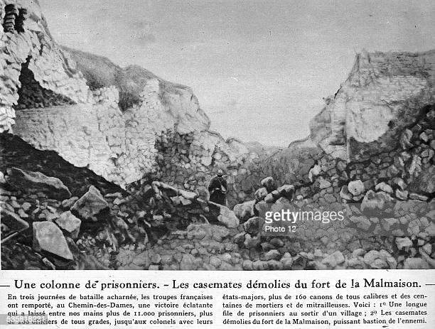 WW1 Le Miroir of the 11th of November 1917 The Chemin des Dames or 'Ladies' Way' The destroyed casemates at the Malmaison fort