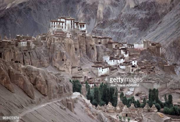 Le monastère de Lamayuru en novembre 1975 dans la région de Ladakh en Inde