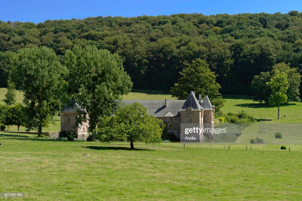 former Carthusian Abbey at the edge of the state-owned Forest of Mont-Dieu.