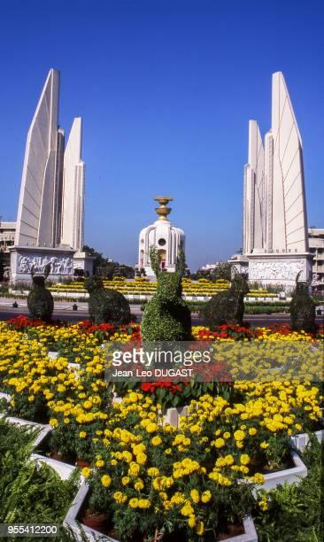 Le monument de la démocratie de Bangkok Thaïlande