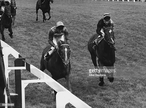 Le Moss wins the 345 Gold Cup on the third day of Royal Ascot with Joe Mercer in the saddle 19th June 1980 Behind in second place is Ardross with C...