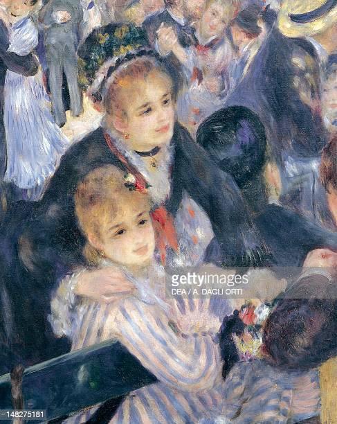 Le Moulin de la Galette by PierreAuguste Renoir oil on canvas 131x175 cm Detail Paris Musée D'Orsay