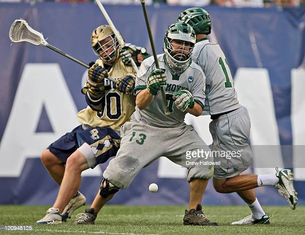 Le Moyne goalie Jared Corcoran goes for the ball in the Division II Lacrosse Finals Sunday, May 28, 2006 at Lincoln Financial Field in Philadelphia,...