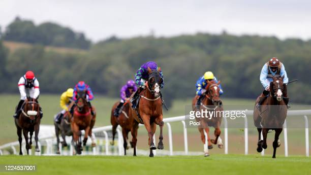 Le Musee ridden by Jockey Rossa Ryan on their way to victory in the Owners Group Makes A Great Gift Handicap at Chepstow Racecourse on July 03, 2020...