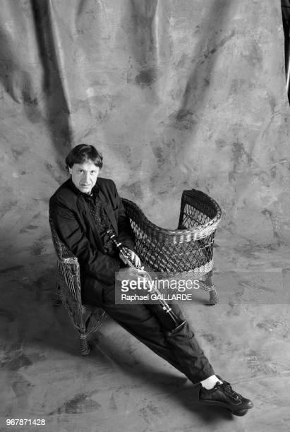 Le musicien français Michel Portal à Paris le 13 mars 1987 France