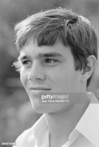 Le nageur Alain Mosconi en août 1968 à SaintTropez France