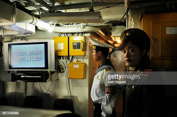 Le navire americain espion USS PUEBLO GER 2 a ete capture en flagrant delit par la marine nord coreenne le 23 janvier 1968 alors qu'il enregistrait...