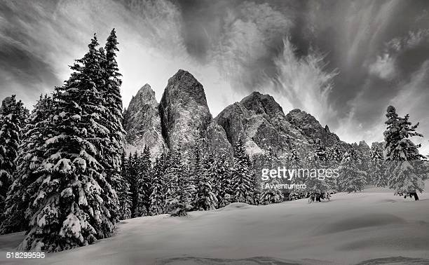 le odle in inverno - inverno stock pictures, royalty-free photos & images