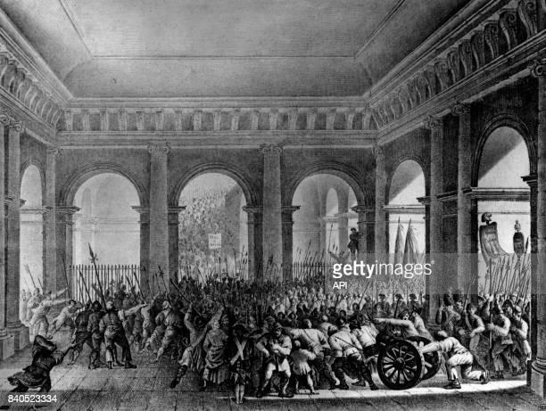 Le palais des Tuileries envahi par la foule, le 20 juin 1792, France.