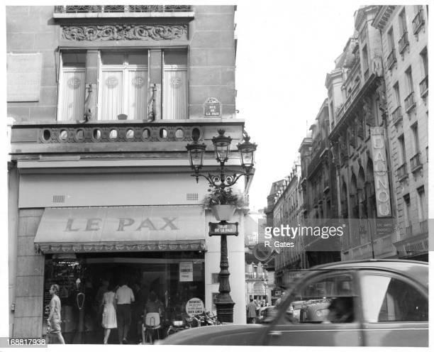 Le Pax on Rue De La Paix in Paris France 1955