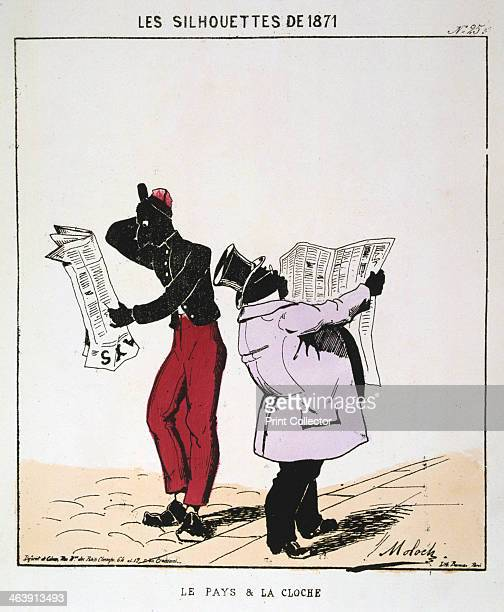 'Le Pays et la Cloche' 1871 Cartoon from a series titled Les Silhouettes de 1871 published at the time of the Paris Commune From a private collection