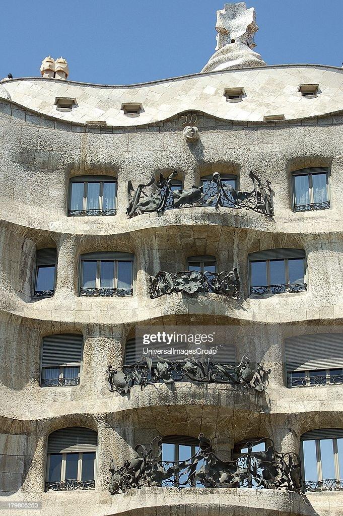 Le Pedrera (formerly Casa Mila), Barcelona, Spain : News Photo