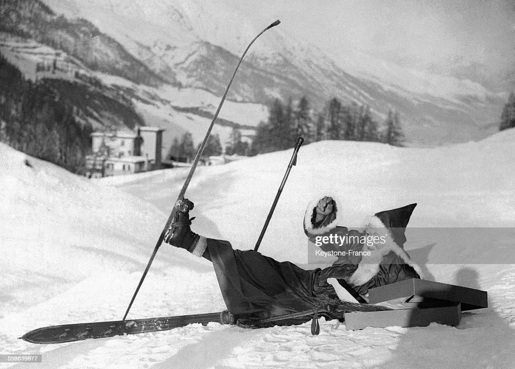 Image Pere Noel En Ski.Le Pere Noel Arrive En Ski A Saint Moritz Suisse News