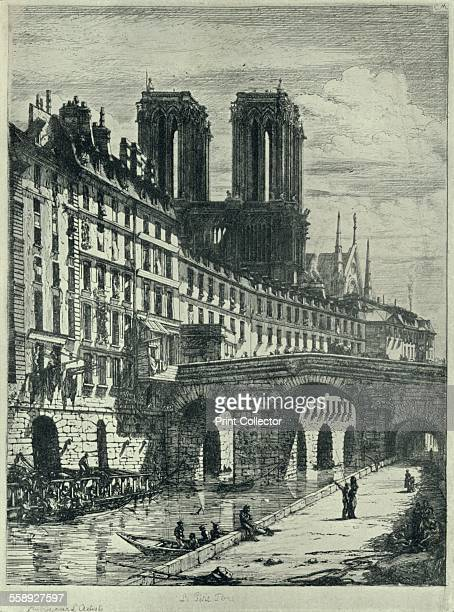 'Le Petit Pont' 1915 From Paris Past and Present [London Offices of the Studio London 1915]
