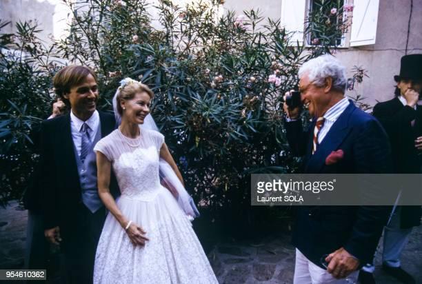Le photographe David Hamilton lors du mariage de Mona son ex-femme avec Gregory Arnold le 7 août 1983 à Ramatuelle, France.