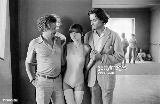 Le photographe David Hamilton lors du tournage du film 'Laura Moore' avec la jeune actrice Dawn Dunlap et James Mitchell en juin 1979 à Saint-Tropez,...