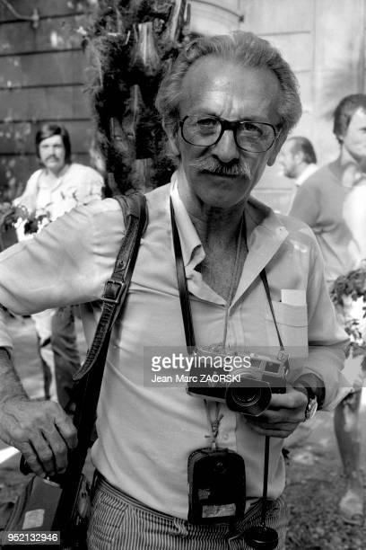 Le photographe photojournaliste français Jean Philippe Charbonnier aux rencontres internationales de la photographie à Arles en France le 7 juillet...