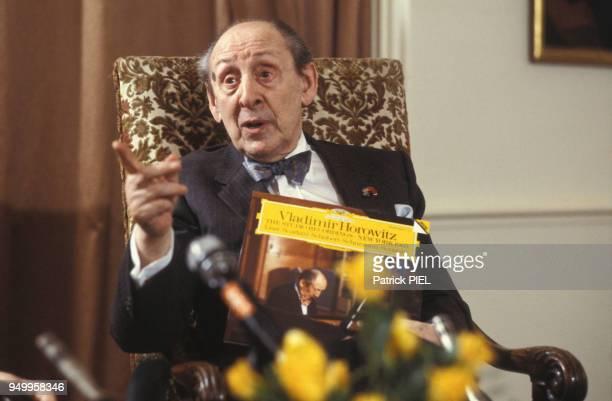 Le pianiste Vladimir Horowitz à Hambourg en mai 1986, Allemagne.