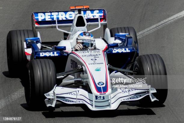 Le pilote automobile allemand Nick Heidfeld au volant de sa BMW Sauber F1.07, le 27 mai 2007 lors du 65e Grand Prix de Formule 1 de Monaco.