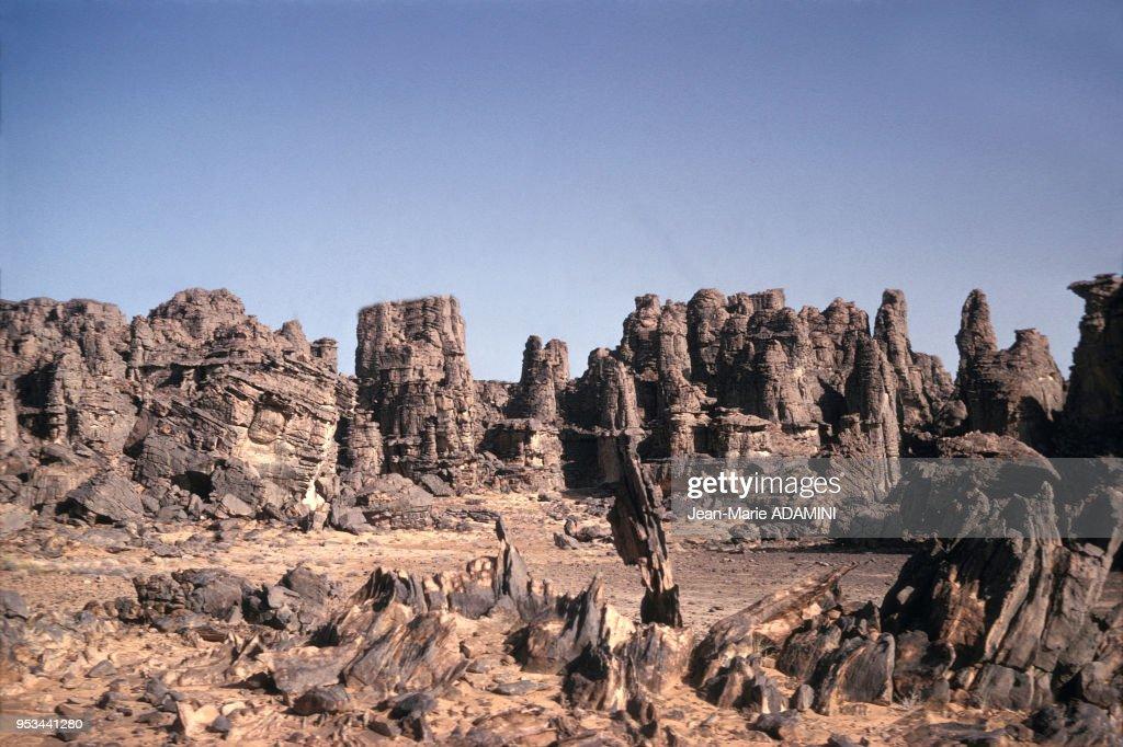 Massif du Tassili n'Ajjer dans le sud-est algérien : News Photo