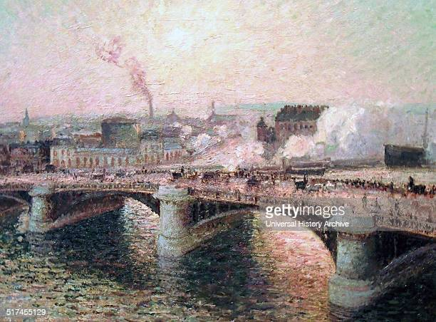 Le Pont Boieldieu a Rouen Soleil Couchant 1895 by Camille Pissarro 1896 Oil on canvas Birmingham Museum