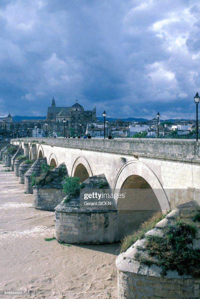 Le Pont Romain De Cordoue Au Dessus Du Guadalquivir En
