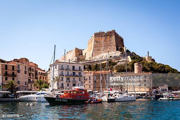 le port de bonifacio, corse, france - corsica stock photos and pictures