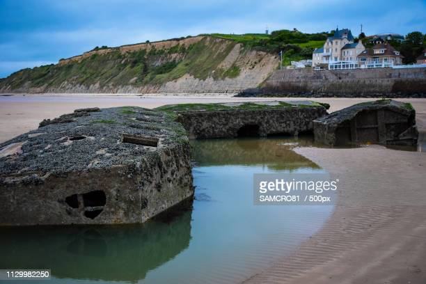Le Port Mulberry, Arromanches, Normandie, France