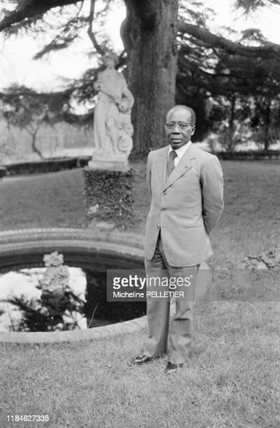 Le poète et ancien président sénégalais Léopold Sédar Senghor à Paris le 1er juin 1983, France.