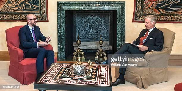 - Le Premier Ministre Charles Michel reçu en audience hebdomadaire par le Roi Philippe au Palais de Bruxelles - Wekelijkse audiëntie van Eerste...