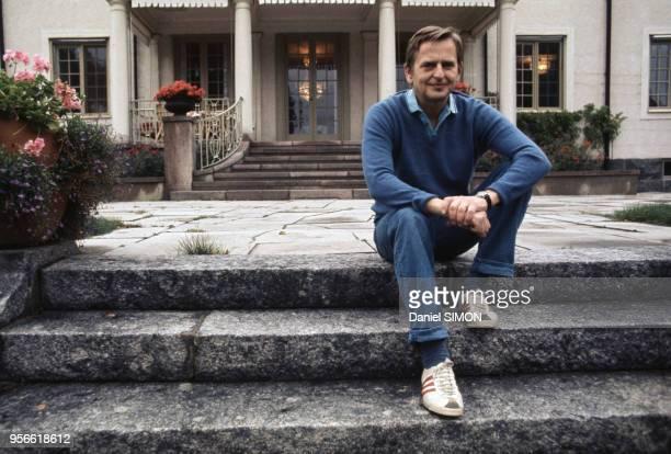 Le Premier ministre Olof Palme chez lui en septembre 1973 en Suède