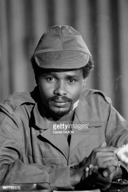 Le premire ministre tchadien Hissène Habré à N'Djamena le 20 février 1979, Tchad.