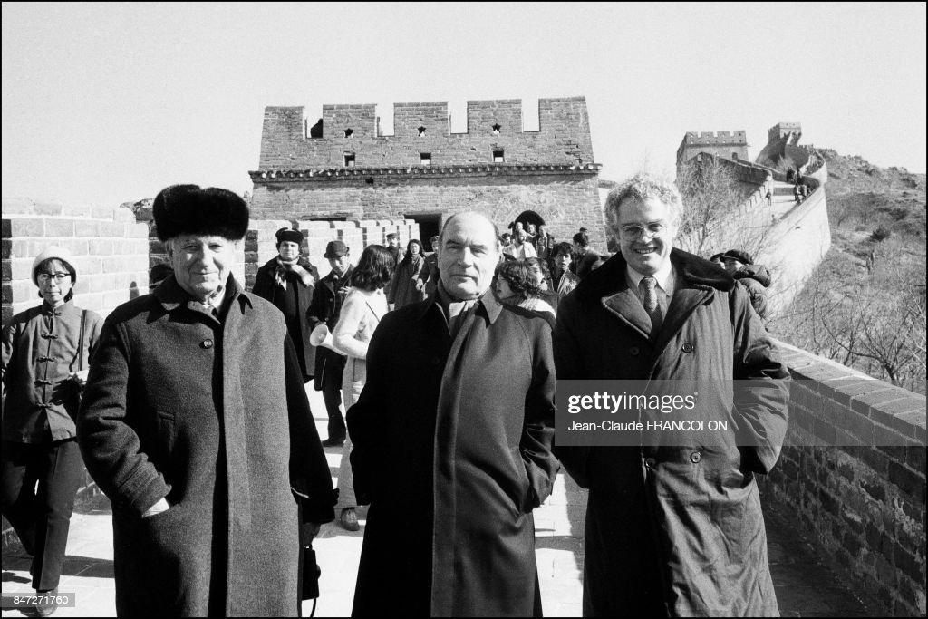 Francois Mitterrand Sur La Muraille De Chine Pictures | Getty Images