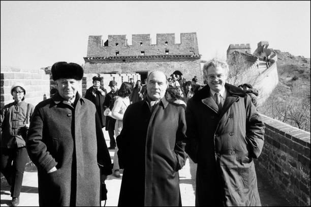 Francois Mitterrand Sur La Muraille De Chine Pictures   Getty Images