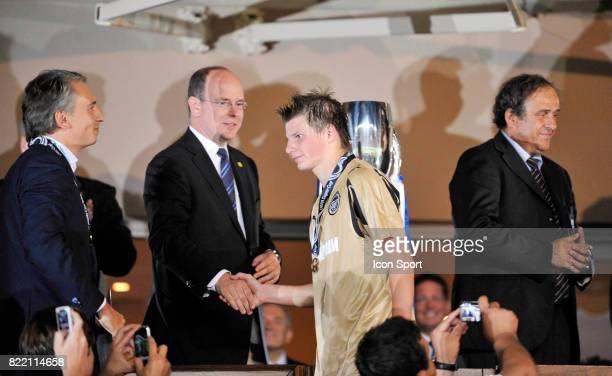 Le Prince Albert de Monaco et Andrei ARSHAVIN Manchester United / Zenith Saint Petersbourg SuperCoupe d Europe Monaco