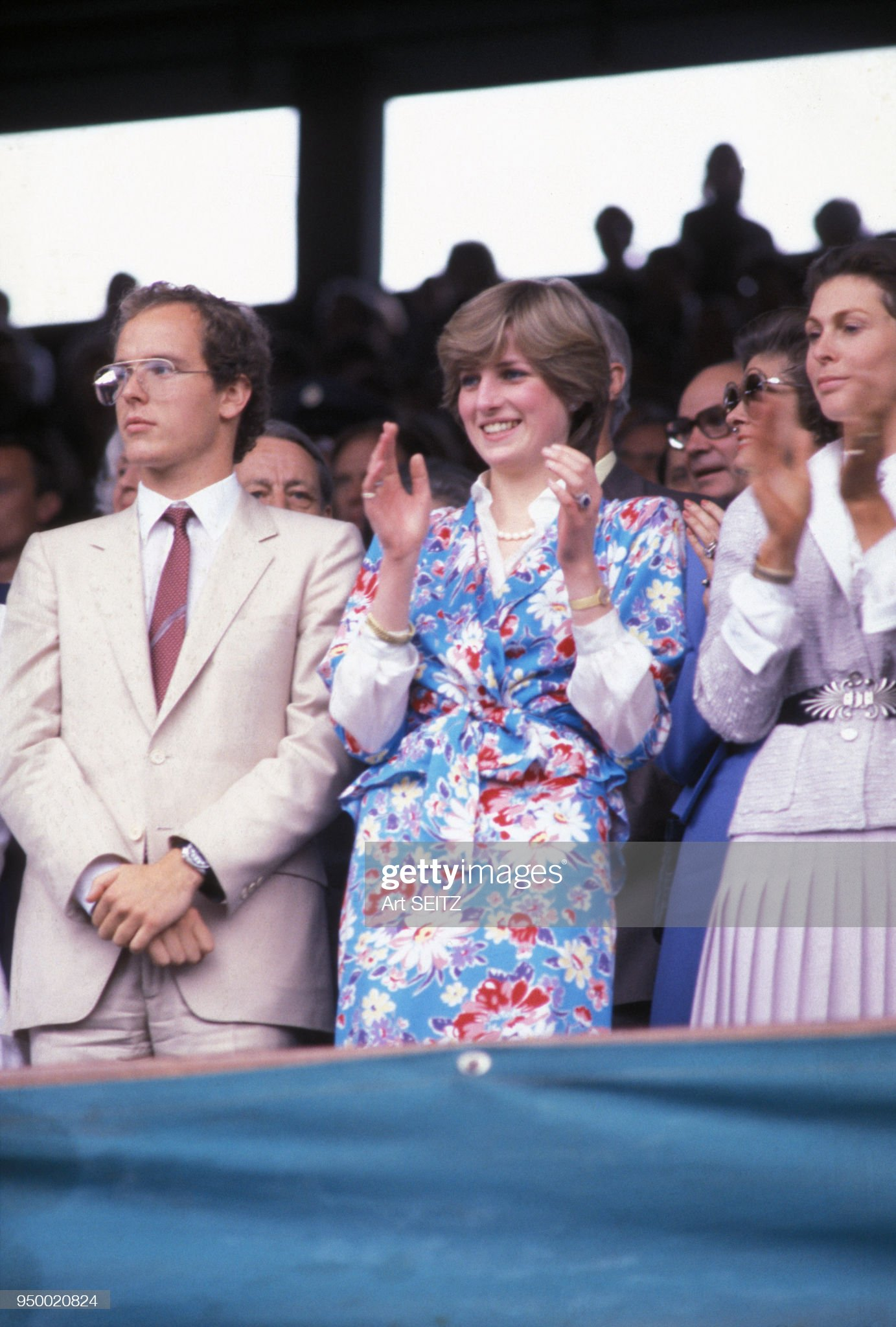 Albert de Monaco et Diana à Wimbledon : News Photo