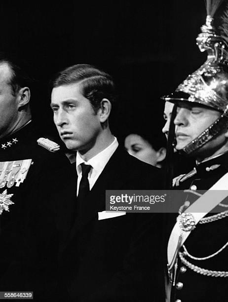 Le Prince Charles assistant au service solennel en memoire au General de Gaulle le 12 novembre 1970 a Paris France