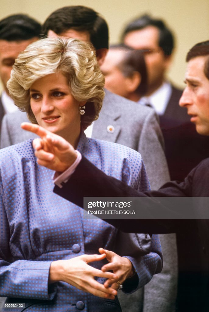 Charles et Diana à Florence : News Photo