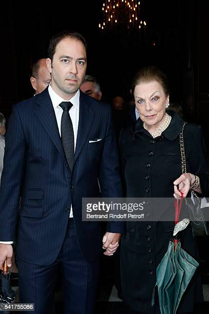 SAR le Prince Dushan de Yougoslavie and his mother SAR Princesse Barbara de Yougoslavie attend the Mass in Memory of SAR Le Prince Alexandre De...