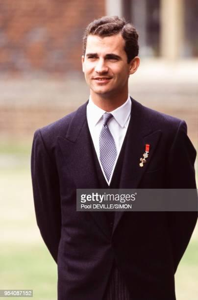 Le prince Felipe d'Espagne le 1er juillet 1995 à Londres, Royaume-Uni.