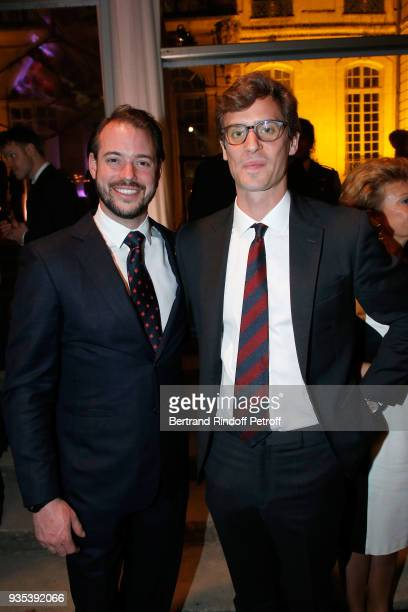Le Prince Felix of Luxembourg and Prince Josef-Emanuel of Liechtenstein attend the Reception given by LL.AA.RR. Grand-Duc Henri of Luxembourg at...
