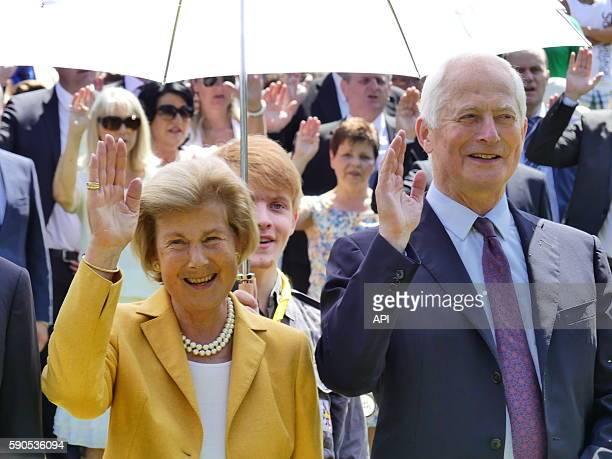 Le prince Hans-Adam II et la princesse Marie Aglaé lors de la Fête Nationale, le 15 août 2016, à Vaduz, Liechtenstein.